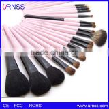 ProMakeup Brushes 24pcs Quality Natural Cosmetic Brush Set with Leather Pouch, 24 Count Bursh set For Eye Shadow, Blush, Conceal
