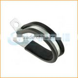 China manufacture best quality black rubber p type hose clips pipe clamps