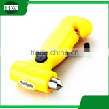 Car escape tool Cranking Safety Belt Cutter & Car Glass Hammer broker with LED Dynamo Flashlight torch