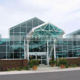 Venlo Type Glass Panels Agricultural Multi-Span Greenhouse With Sun Shade &Control System