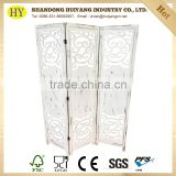 cheap distressed foldable engraving wooden screen room divider