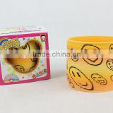 wholesale good quality magic rainbow spring with smile face/rainbow circle
