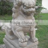 Doorway decoration chinese style lion animal marble statue