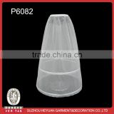 p3082 Wholesale 2-hoops Clear Bridal Petticoat for Beautiful Wedding Dress