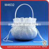 M4632 The new roses gambiered guangdong gauze side small bridal flower basket