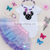 with bracelet and necklace 4 pcsNewborn Infant Baby Girls Christmas Romper Tutu Skirt Dress Xmas Outfit Clothing