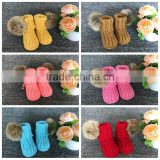 0-3-6-12 Month Toddler Fuzzy Socks Baby Booties Wholesale Infant Shoes With Pom Fur Ball
