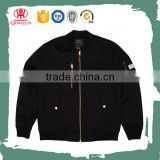 Custom Cheap Black Winter Bomber Jackets