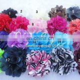 "Stock! 2"" Mini Small Petite Satin Mesh Silk Flowers Charlotte Tulle Puff Flower Heads"