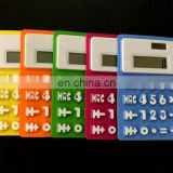 Waterproof Foldable Solar Power 8 Digit Silicone Pocket Calculator for Office Stationery