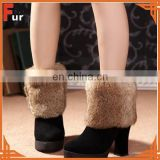 100% Real Rabbit Fur Boot Cuff / Boot Topper