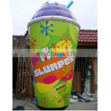 huge inflatable milk tea cup replica/inflatable cooling drink model for advertising