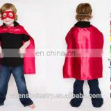 Wholesale OEM/ODM Custom logo design Double Layer Satin superhero capes and mask Superhero costume for Kids