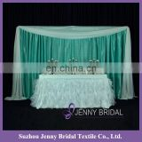 TC012M organza cheap fabric table cloths rectangular marriage decoration table skirt