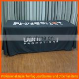 black polyester fitted stretch table cover