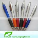 Rubber touch plastic ball pen wtih printed logo