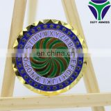 Customized gold plated tungsten coin