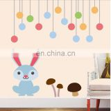 Baby rabbit vinyl sticker child kids room decor wall decal stickers