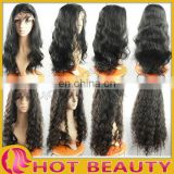 human hair wavy front lace wigs for black women