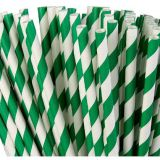 100/250/500 Red green Striped Chevron Paper Straws Disposable Event Party Supply