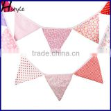 Fabric Bunting, Narrow Flags, Pastel and Bright Wedding, Party, Baby Shower 10ft PL032