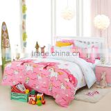 Good quality cartoon horse print best bedding sets China 4pcs life comfort sheet set