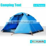 TOOTS High-Quality Outdoor Family Camping Tent ,Foldable Double Layers Camping Tent for 3 Person