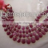 Wholesale Good Quality Pink Sapphire Faceted Pear Beads