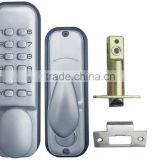 OSPON MACHINERY WATERPROOF SECURITY MECHANICAL DIGITAL KEYLESS DOOR LOCK STAIN CHROME OS3308A