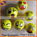 Yellow color Kids stress relief toy pu smiley ball                                                                         Quality Choice