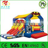 Party inflatable bounce slide, inflatable batman interactive combo