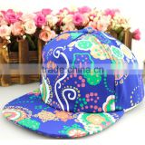 Fashion Vintage Paisley Flower Printed Boys Girls Snapback Cap
