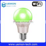 High quality E26 E27 7W smart led light bulb, wifi led bulb controlled by IOS & Android phone
