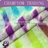 RT linen stripe fabric knitted tie dye fabric for ladies fashion clothing