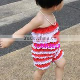 Wholesale white 100%cotton infant jumpsuits fashion sleeveless multicolor baby rompers gold supplier babies romper