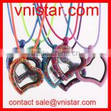 Vnistar exchangeable painted floating heart locket necklace wholesale with 30mm heart floating locket VSN086
