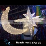 Ramadan decoration , 3D Acrylic figure lights moon and star , party decoration