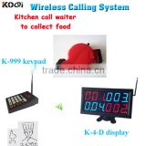 Queue Management System Wireless Keyboard Wireless Waiter Call System For Kitchen Call Waiter