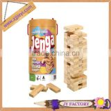Children game wooden jenga blocks