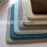green color memory foam prayer mat for wholesale/Memory foam bath mat_ Qinyi