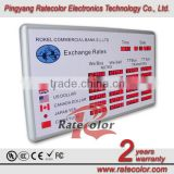 Hot new product currency exchange rate display with 6 digits Indoor led panel