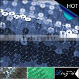 Polyester Mesh Sequin Embroidery Fabric For Dress DSN508                                                                         Quality Choice