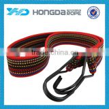 PP flat bungee cord with 2 hooks