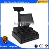 Bizsoft All in one DZ-D21P Pos system with 58MM thermal printer/cash drawer/LCD customer display