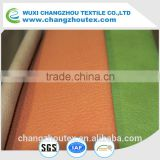 100% POLYESTER HIGH QUALITY WARP SUEDE WITH EMBOSSING AND BONDING, WITH PU ON THE SURFACE