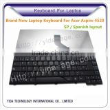 Replace Spanish layout Laptop Keyboard For Acer As 4520 black color                                                                         Quality Choice