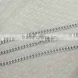 10mm Silver stainless steel curb chain necklace bracelet set; wholesale stainless steel curb chain manufacturer
