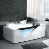 Large space Acrylic Bathtub with showers massage bath tub,acrylic material,multifunction shower head and jet