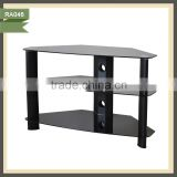 exotic glass tv stand brass tray table tv rack RA046