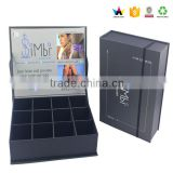 Cusmetic packing tin cosmetic black magnetic gift box                                                                         Quality Choice